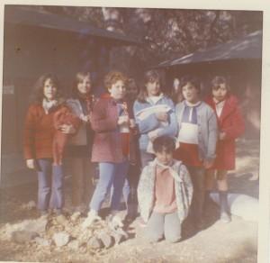 Girl Scout Troop #421 at Camp Wakonda - Dec '68