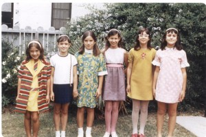 Birthday party  in our summer dresses