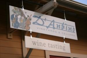 D'Anbino Tasting room signage