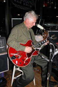 Sleepy Guitar Johnson, Denis Degher of Mojo Wines, performs regularly at Vinoteca Wine Bar in downtown Paso Robles