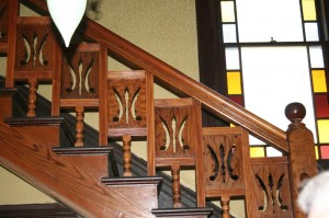 An interior balustrade