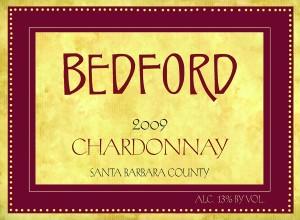 Bedford 2009 Santa Barbara County Chardonnay