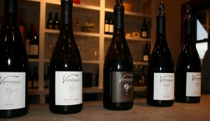 Tasting room lineup at Venteux Vineyards