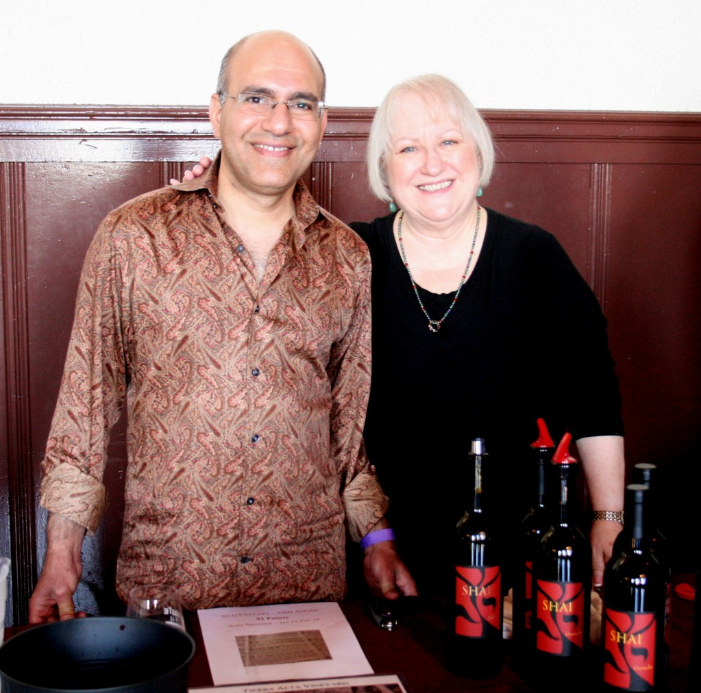 Shawn Shai Halahmy of Shai Cellars with Denise Lowe