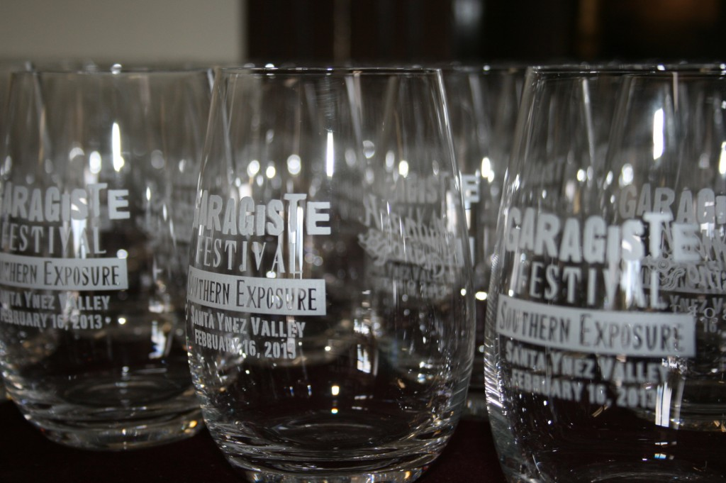 Wine glasses Garagiste Festival Southern Exposure 2013