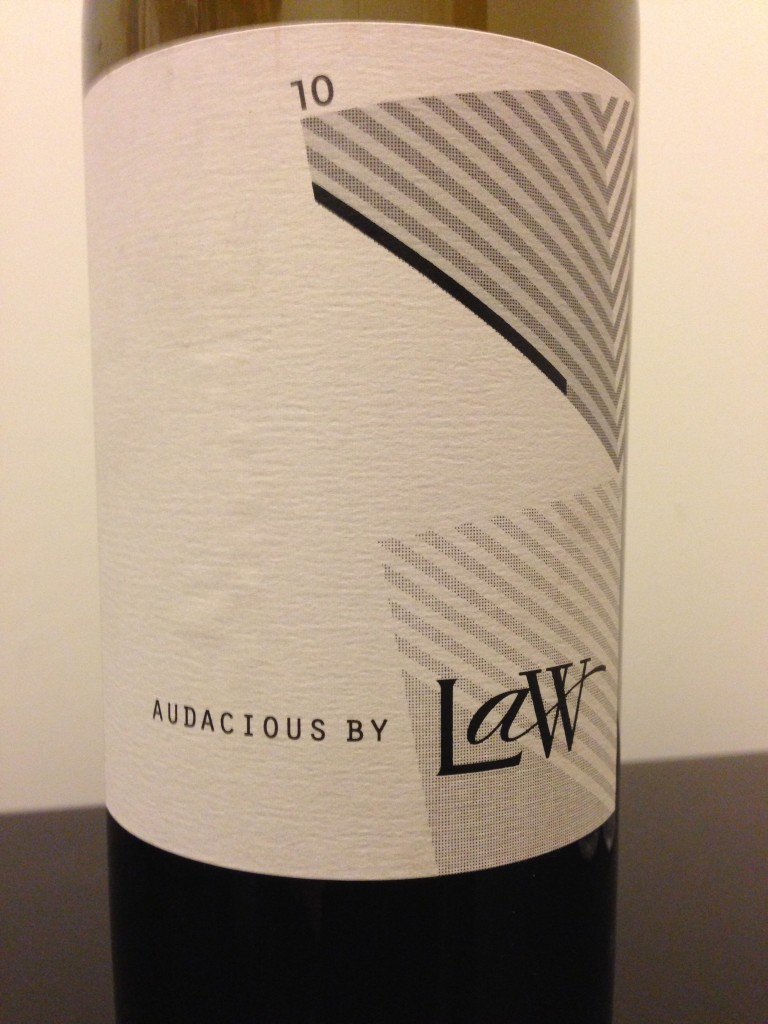 "LAW Estate Wine's 2010 ""Audacious"""