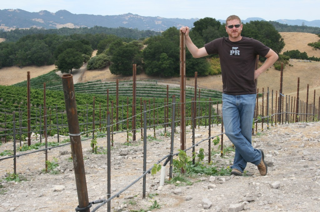 Jason Haas of Tablas Creek Vineyard with new picardan plantings
