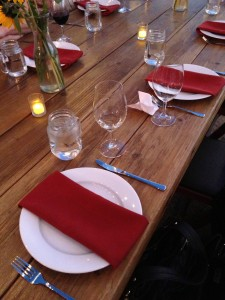 Table Setting - Cass Winery BBQ
