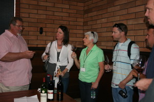 Gary Eberle discussing Cabernet Sauvignon with guests at the 2013 CABS of Distinction Grand Tasting