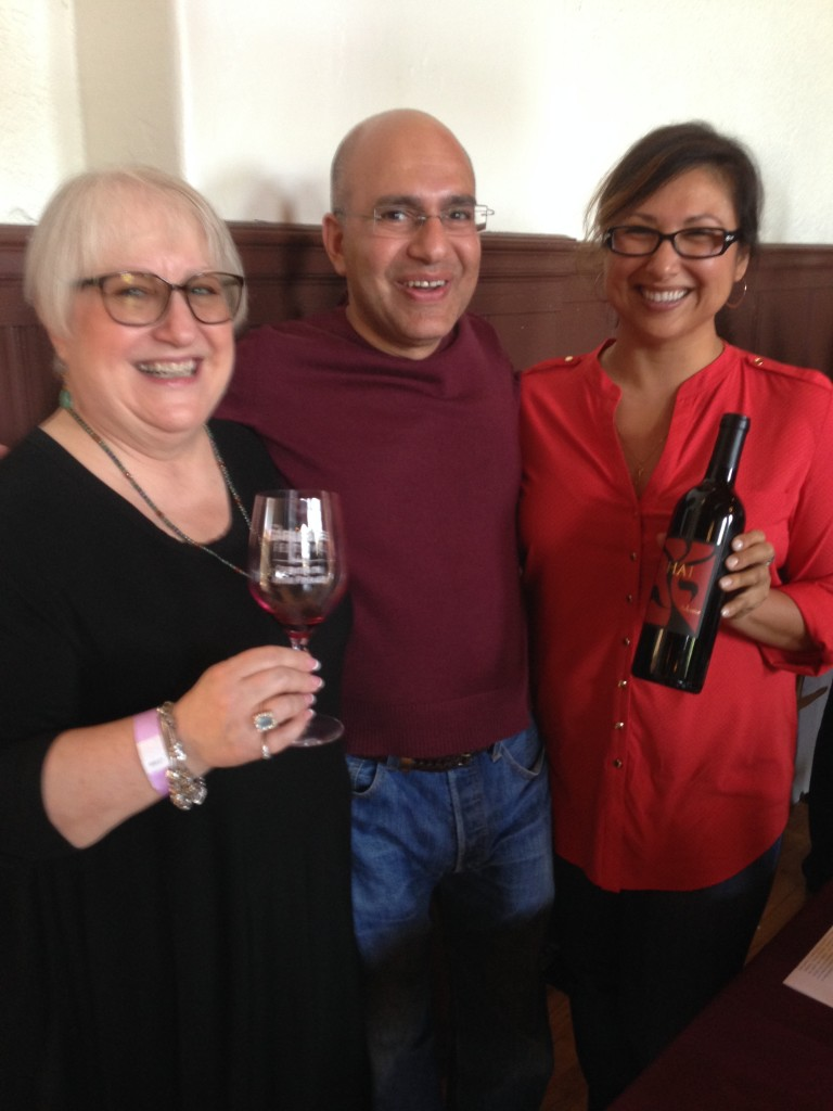 Denise Lowe, the Goddess of Wine, Shawn Halahmy and Sandy Grazziani of Shai Cellars.
