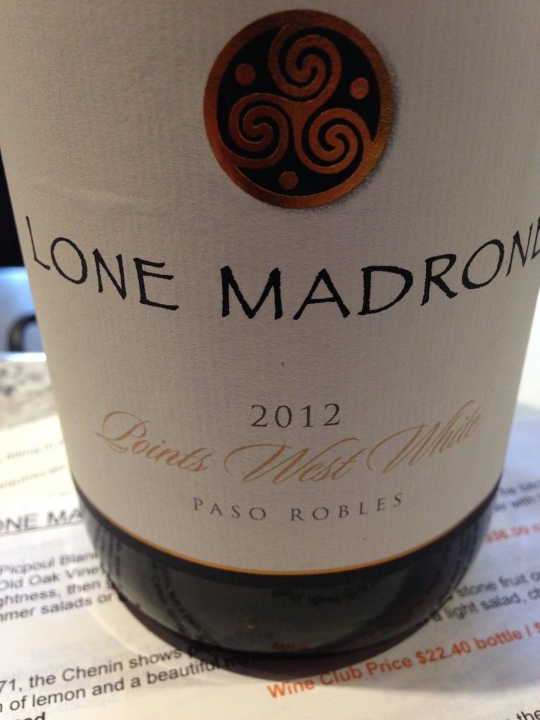 Lone Madrone wine, Paso Robles, California