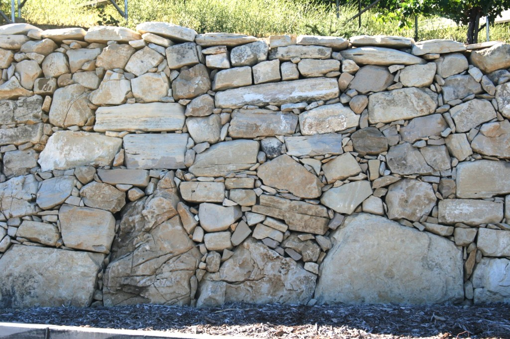 Calcareous wall, Tablas Creek, Adelaida Road, Paso Robles, California