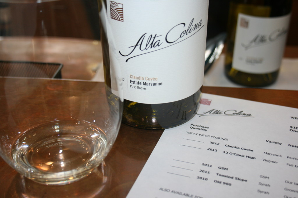 Tasting at Alta Colina, Adelaida Road, Paso Robles, California