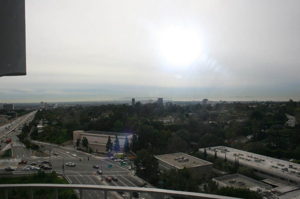 View from Hotel Angeleno - Artisan Uprising tasting