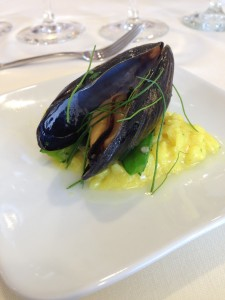 mussels and risotto