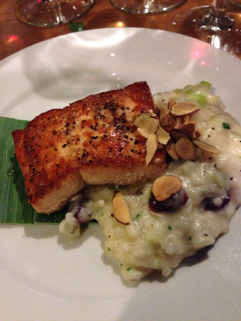Salmon and Risotto at The Independence Restaurant and Bar - Placerville, CA
